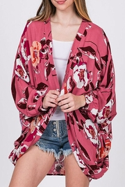 CY Fashion Floral Open-Front Cardigan - Back cropped