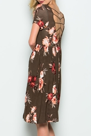 CY Fashion Flower Cage Back Dress - Side cropped