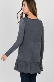 CY Fashion Grommet Lace Up Long Sleeve Top - Side cropped