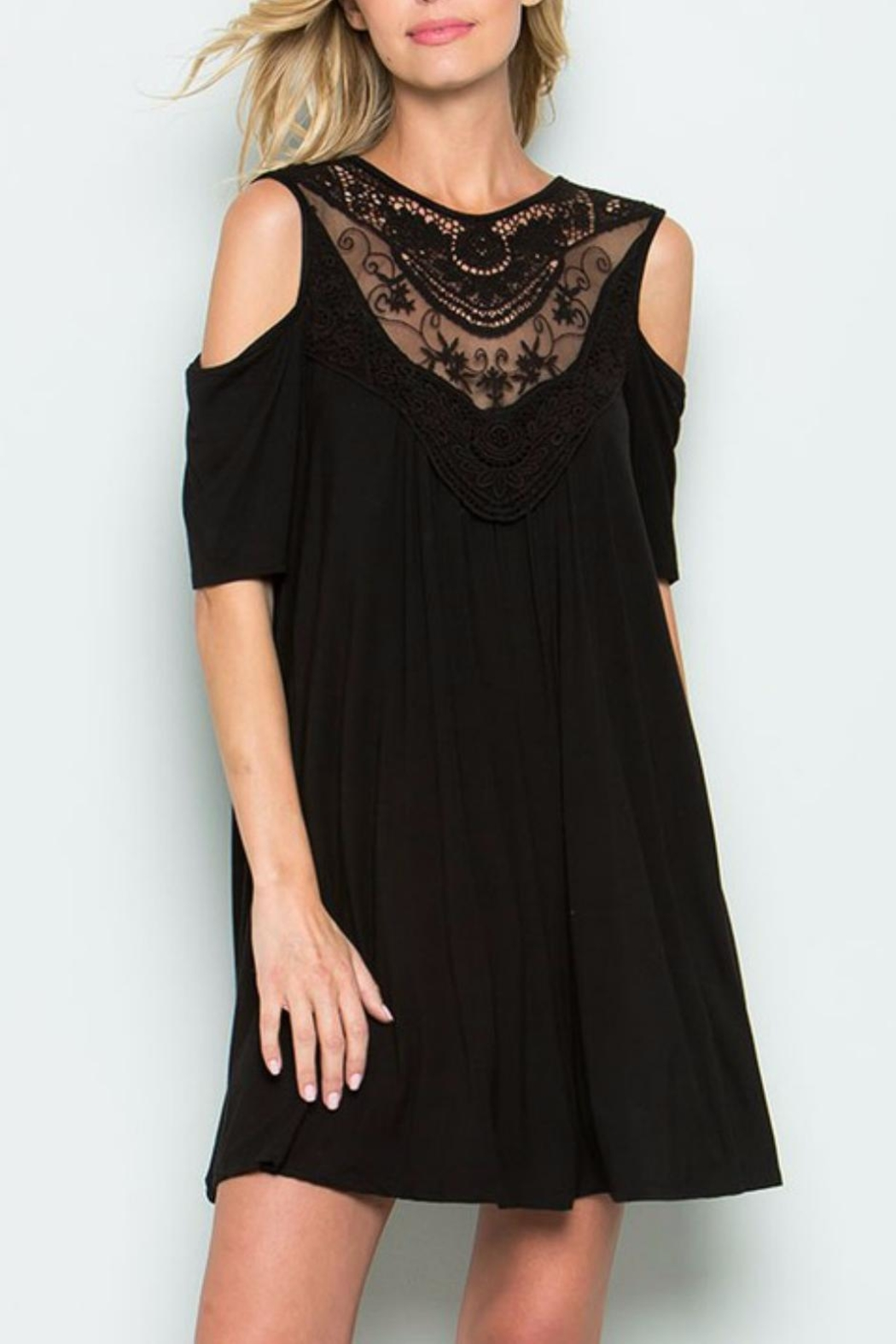 CY Fashion Illusion Lace Dress - Front Full Image