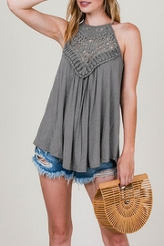 CY Fashion Lace Detail Tank-Top - Product Mini Image