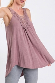 CY Fashion Lace Patch Tank-Top - Product Mini Image
