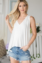 CY Fashion Lace Trim Tank Top - Front cropped