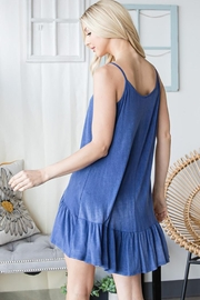 CY Fashion Lace Up Tiered Sleeveless Tank Top - Front full body