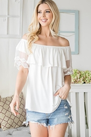 CY Fashion Off Shoulder Top Lace Detail - Other