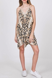CY Fashion Snake Print Dress - Back cropped