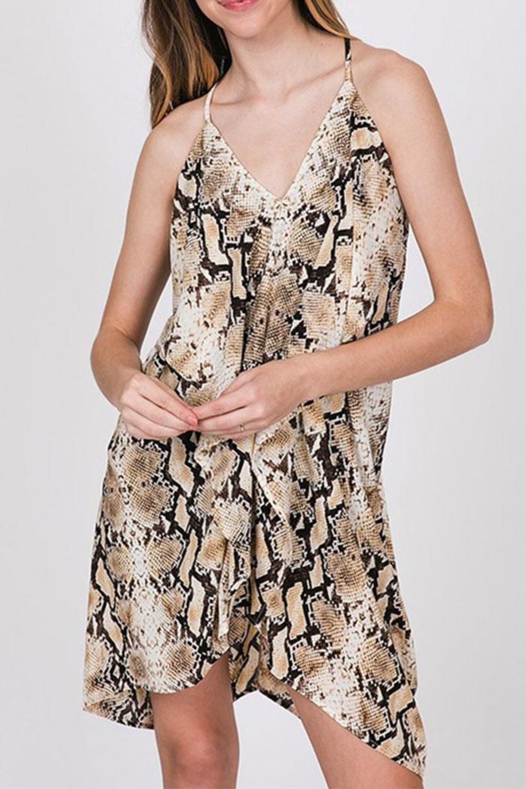 CY Fashion Snake Print Dress - Front Cropped Image