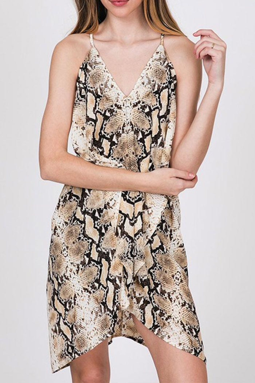 CY Fashion Snake Print Dress - Side Cropped Image