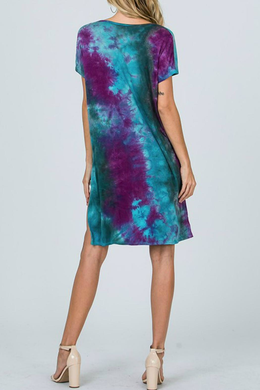 CY Fashion Tie-Dye High-Lo Top - Side Cropped Image