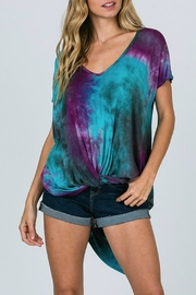 CY Fashion Tie-Dye High-Lo Top - Front cropped