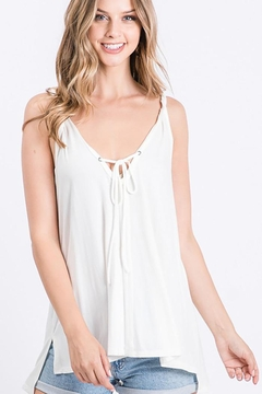 CY Fashion Twisted Strap Tank Top With Slit Sides - Product List Image