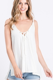 CY Fashion Twisted Strap Tank Top With Slit Sides - Product Mini Image
