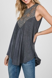 CY Fashion Washed Keyhole Top - Product Mini Image