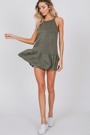 CY Fashion Washed Sleeveless Top With Ruffled Hem - Front cropped