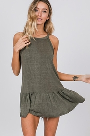 CY Fashion Washed Sleeveless Top With Ruffled Hem - Side cropped