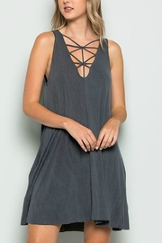 CY USA Cage Detail Dress - Front cropped