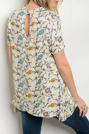 CY USA Cream Floral Top - Front full body