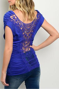 CY USA Draped Crochet Top - Alternate List Image