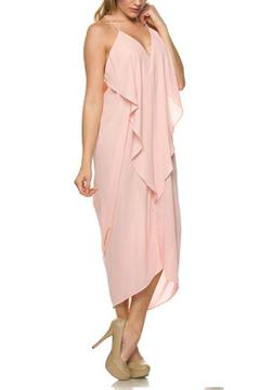 Shoptiques Product: Draped Ruffle Dress