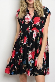 CY USA Floral Tunic Dress - Front cropped