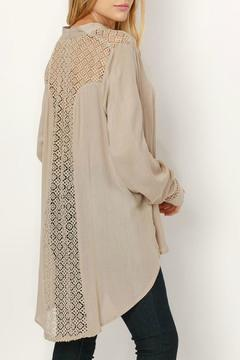 Shoptiques Product: Lace Back Button Down