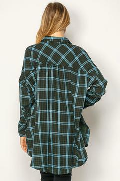 Shoptiques Product: Olive Plaid Flannel