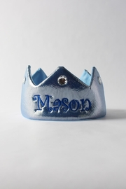 CYNDY'S BEAR Personalized Blue Crown - Product Mini Image