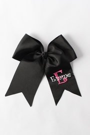 CYNDY'S BEAR Personalized Hair Bow - Front cropped