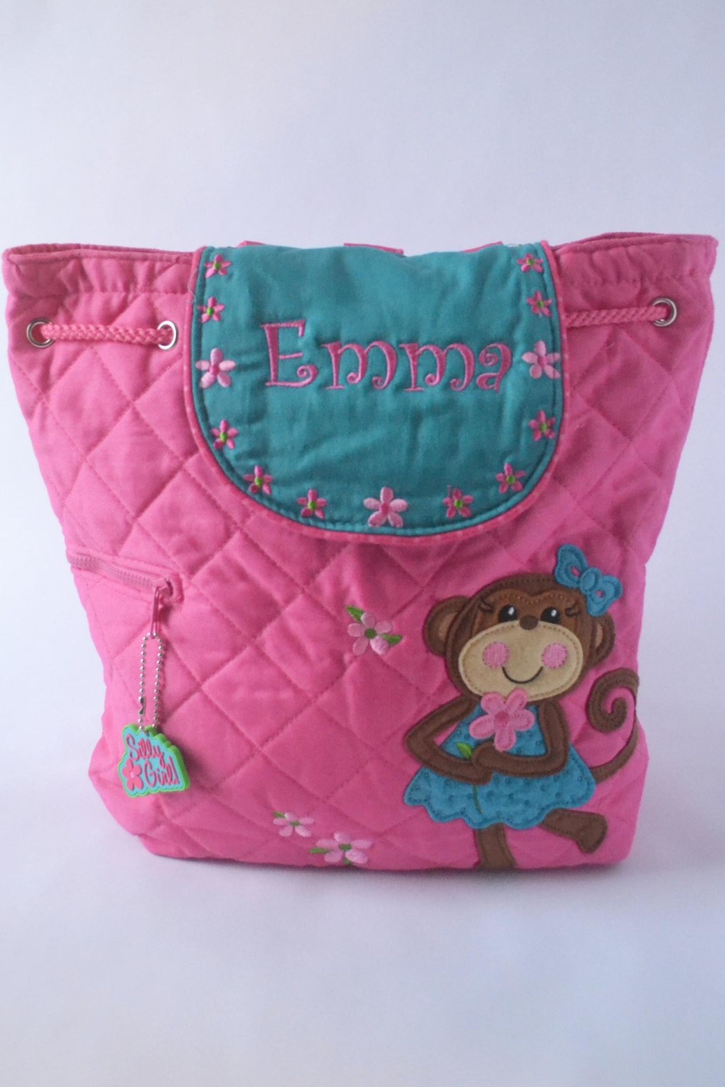 CYNDY'S BEAR Personalized Monkey Backpack - Front Cropped Image