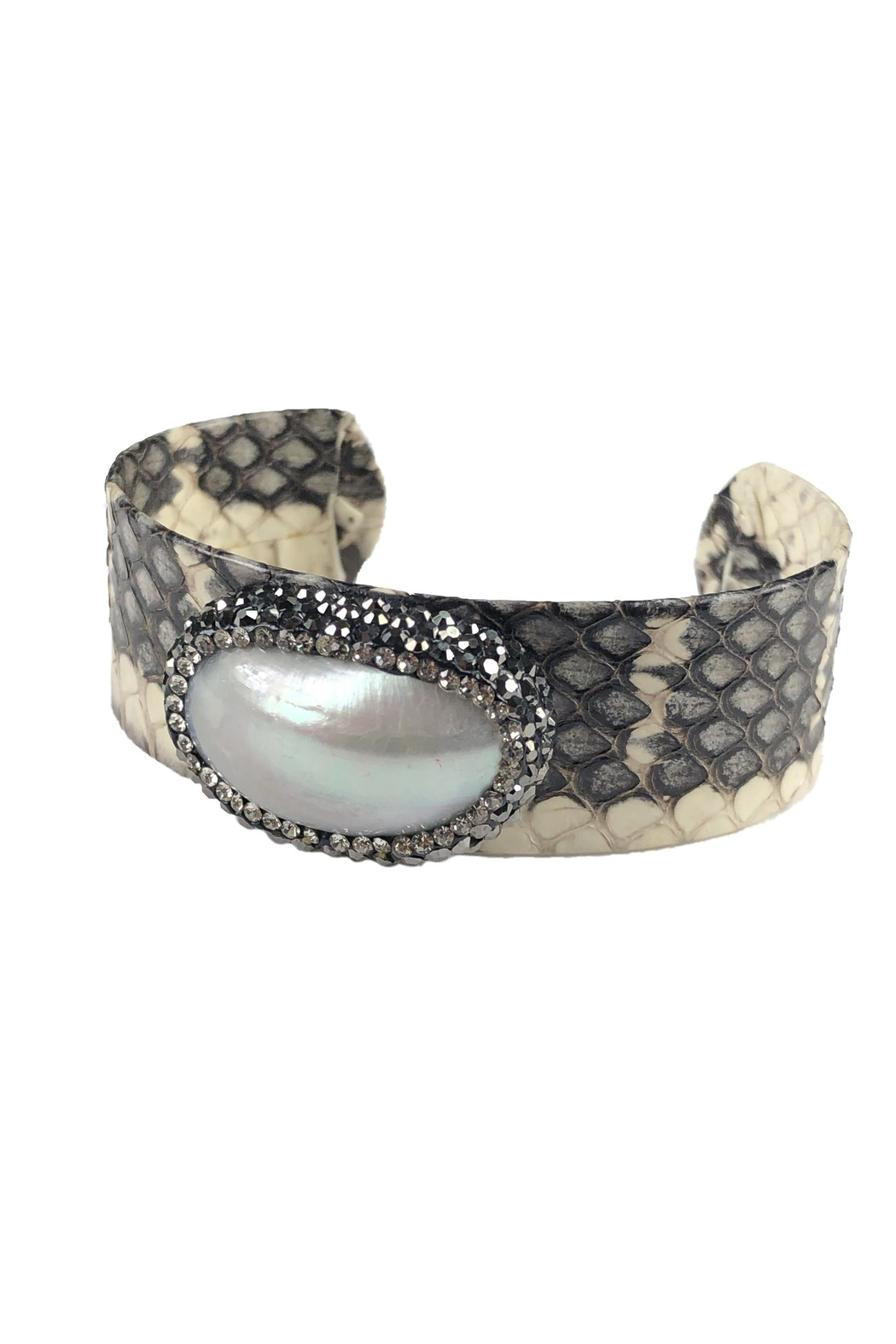 Fabulina Designs Cynthia Thin Cuff Bracelet - Front Cropped Image