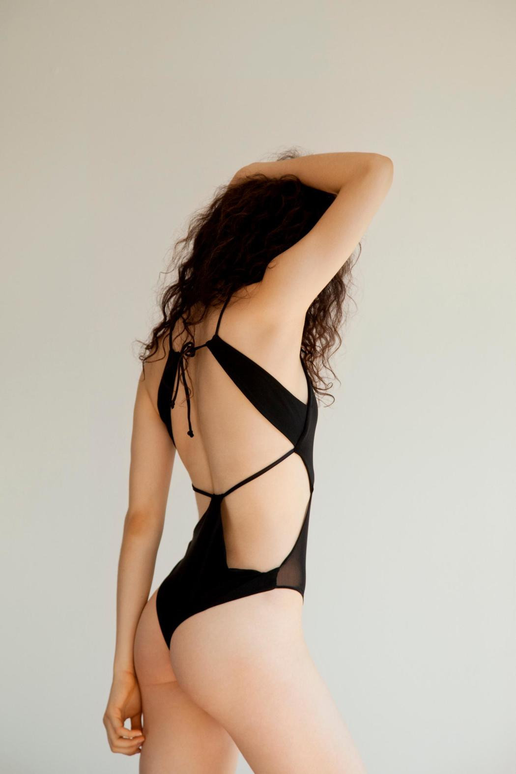 Cynthia Buttenklepper Cut Out Bodysuit - Front Full Image