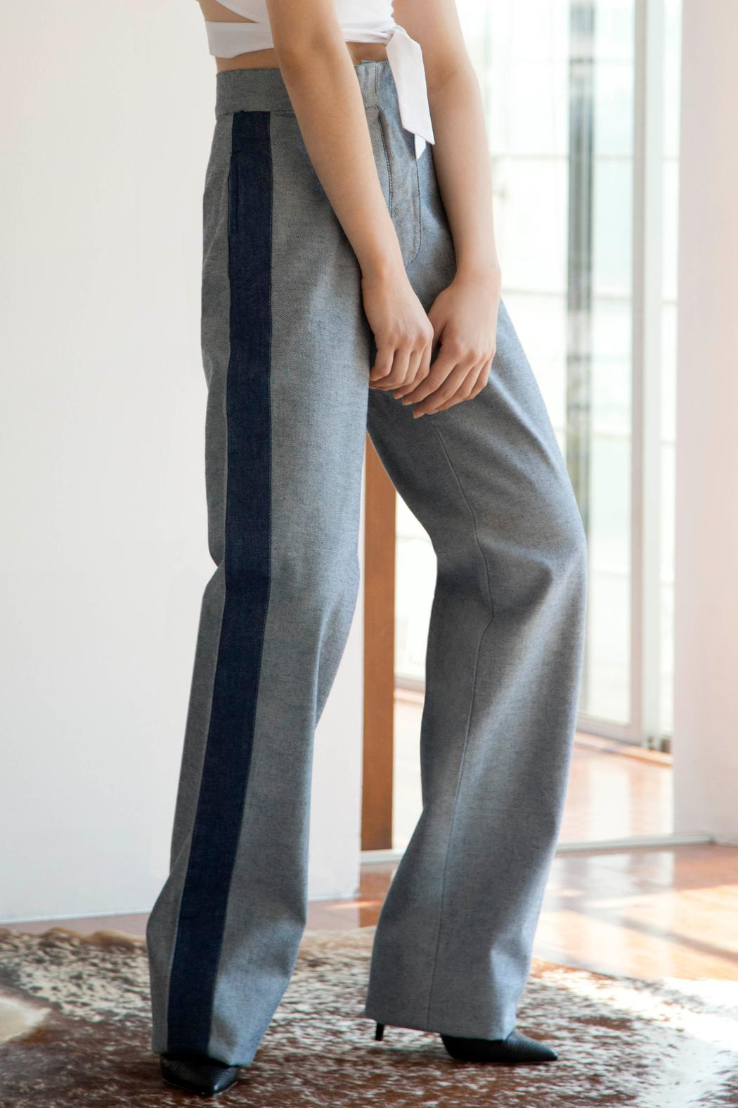 Cynthia Buttenklepper Denim High-Rise Pants - Side Cropped Image