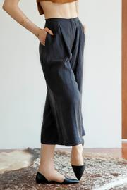 Cynthia Buttenklepper Washed Silk Culottes - Side cropped