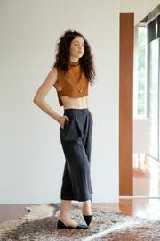 Cynthia Buttenklepper Washed Silk Culottes - Front cropped