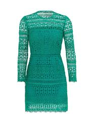 Cynthia Rowley Geo Lace Dress - Front cropped