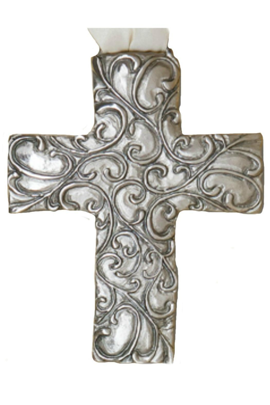Cynthia Webb Designs Pewter Wall Cross - Front Cropped Image