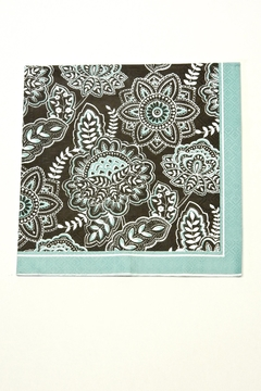 Cypress Home Black And Turquoise Napkin - Alternate List Image