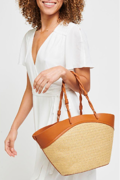 Urban Expressions Cyprus Straw Tote - Product List Image