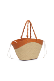 Urban Expressions Cyprus Straw Tote - Side cropped