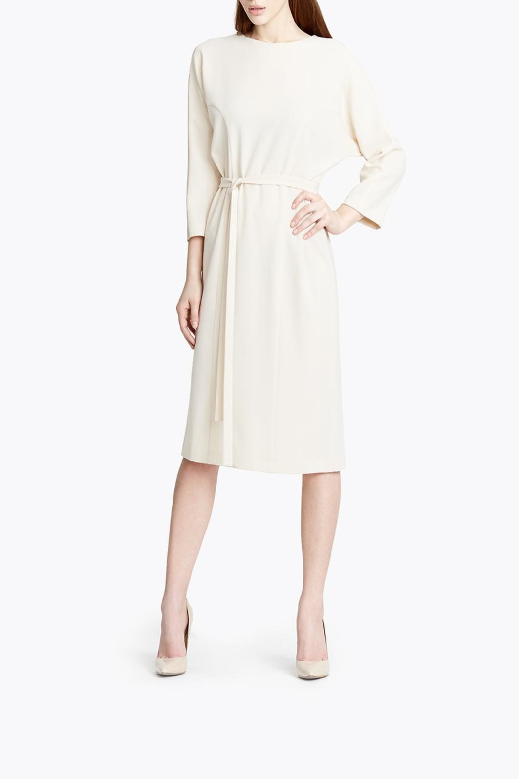 CYRILLE GASSILINE Belted Midi Dress - Back Cropped Image