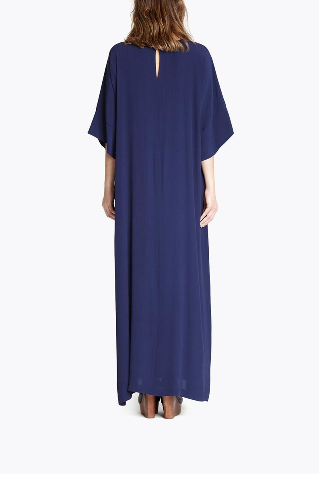 CYRILLE GASSILINE Blue Maxi Dress - Back Cropped Image