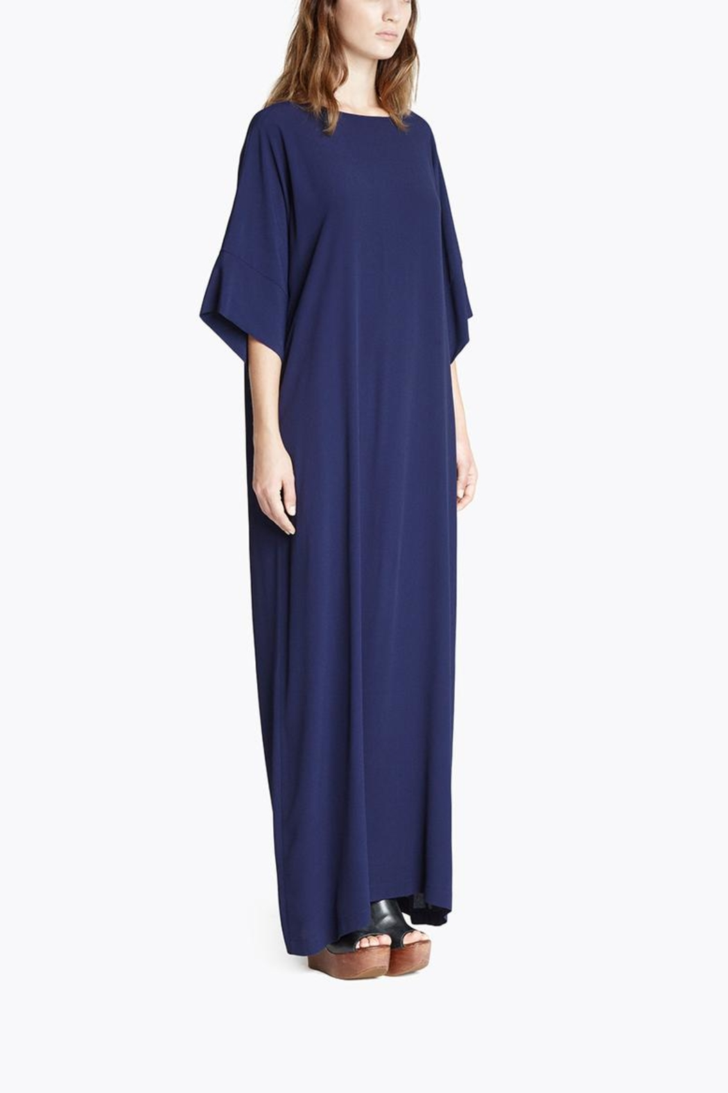 CYRILLE GASSILINE Blue Maxi Dress - Side Cropped Image