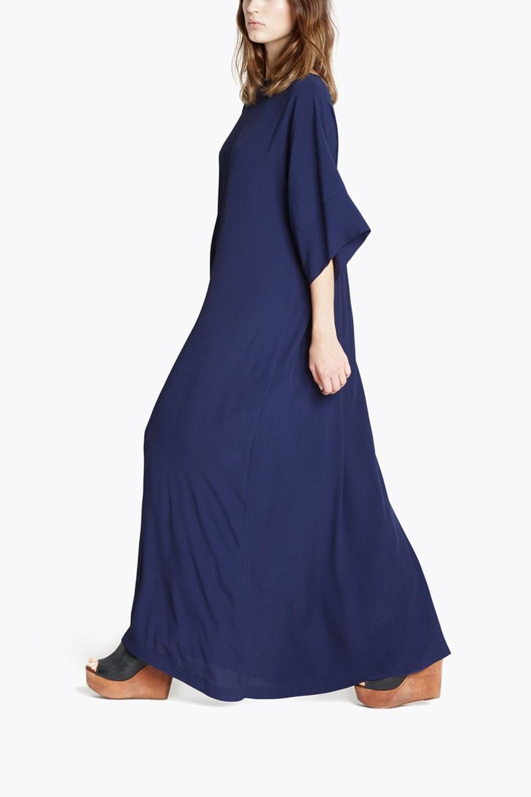 CYRILLE GASSILINE Blue Maxi Dress - Front Full Image