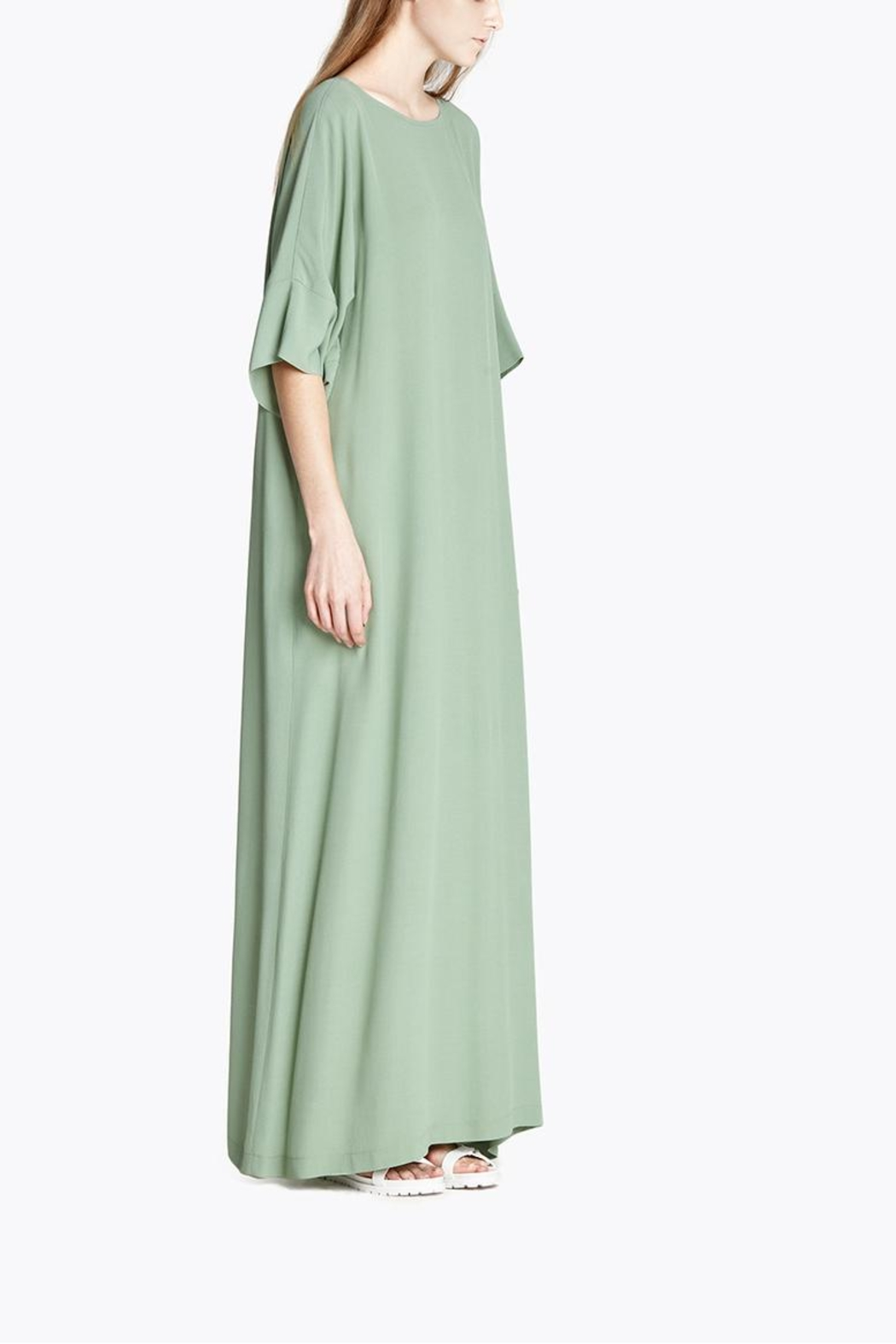 CYRILLE GASSILINE Mint Maxi Dress - Back Cropped Image