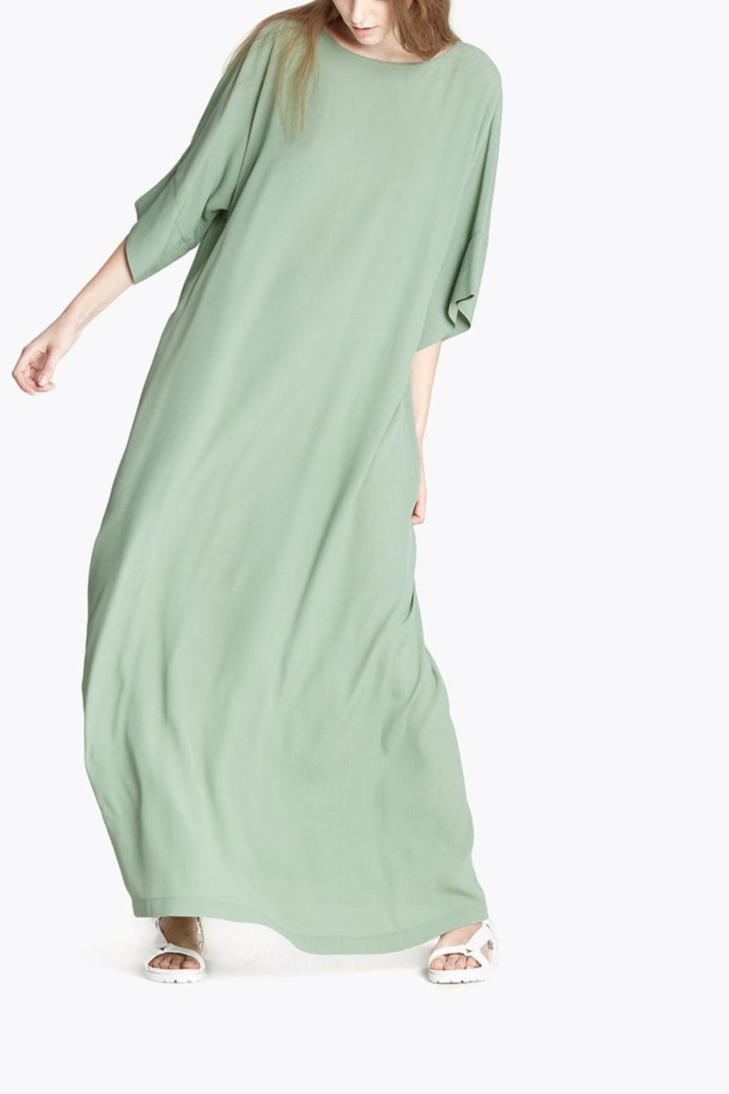 CYRILLE GASSILINE Mint Maxi Dress - Side Cropped Image