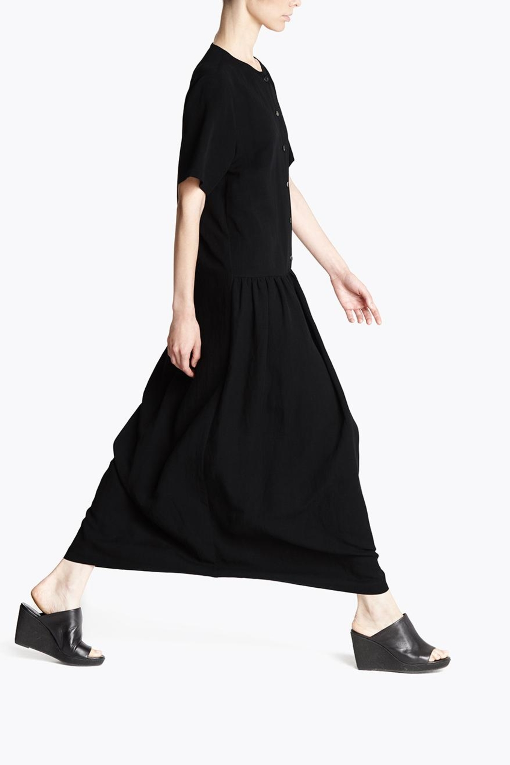 CYRILLE GASSILINE Drawstring Shirt Dress - Front Cropped Image