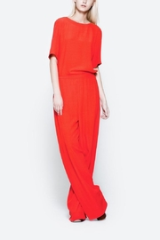 CYRILLE GASSILINE Red Square Cut Top - Front cropped