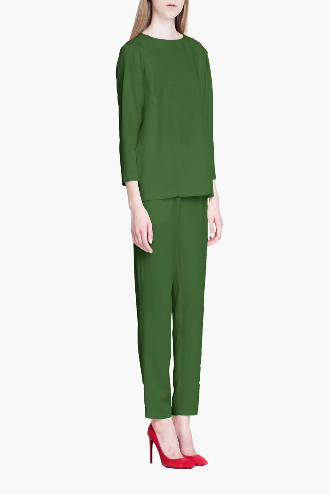 CYRILLE GASSILINE Tailored Trouser Co-Ord - Front Full Image