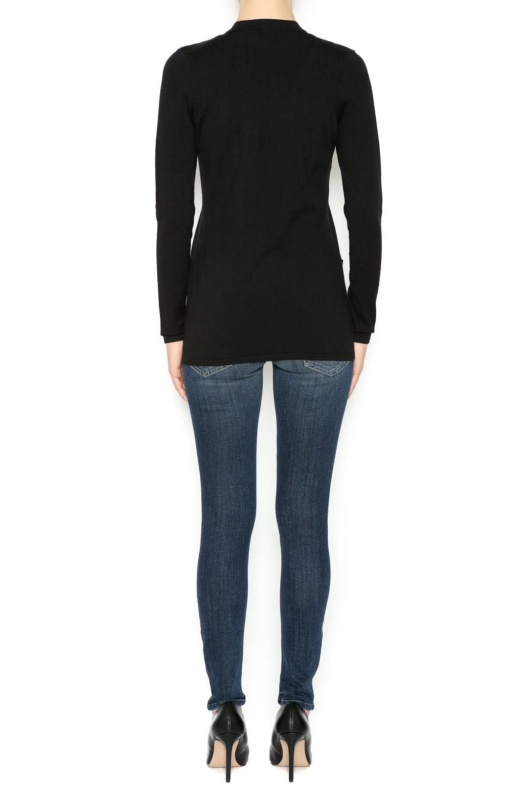 Cyrus Gold Trim Sweater - Side Cropped Image