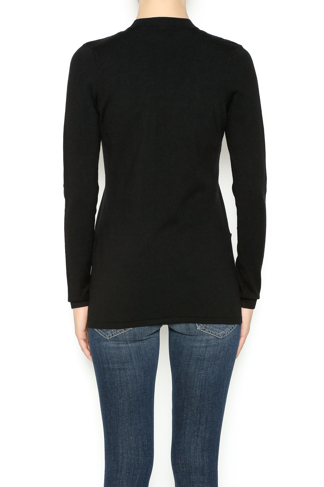 Cyrus Gold Trim Sweater - Back Cropped Image